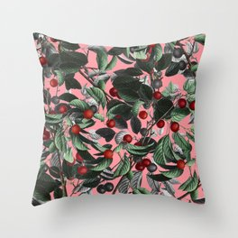 Vintage Fruit Pattern IV Throw Pillow