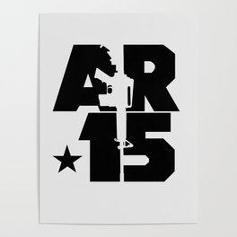 AR-15 (Silver/Black) Poster
