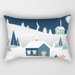 Sundance Ski Mountain Rectangular Pillow