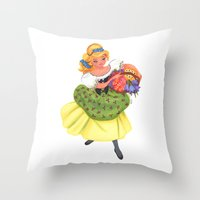 cinderella Throw Pillows featuring Cinderella by Celine Billy