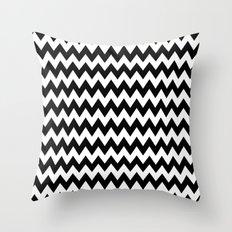 Black White Chevron Throw Pillow