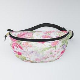 Vintage & Shabby Chic - Pastel Spring Flower Medow Fanny Pack