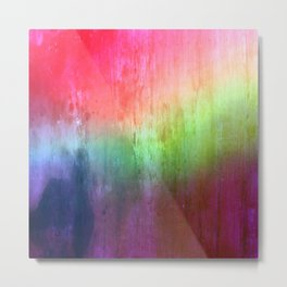 Visitor - colorful distressed abstract Metal Print