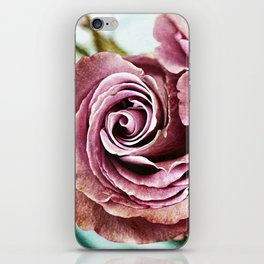 Gritty Vintage Dusty Pink Rose iPhone Skin