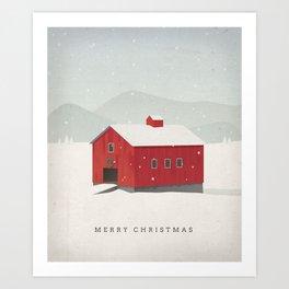 """Merry Christmas"" Holiday Card Art Print"