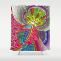 buildings Shower Curtains featuring abstract buildings by haroulita