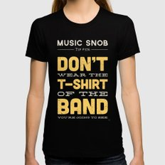 The OTHER Shirt of the Band — Music Snob Tip #376.5 Womens Fitted Tee Black X-LARGE
