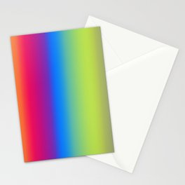 Ombre Bright Colors 1 Stationery Cards
