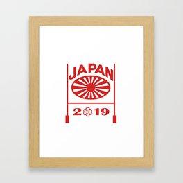 Rugby Goal Post Japan 2019 Framed Art Print