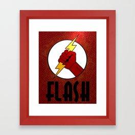 The Flash - Minimalist Art Framed Art Print