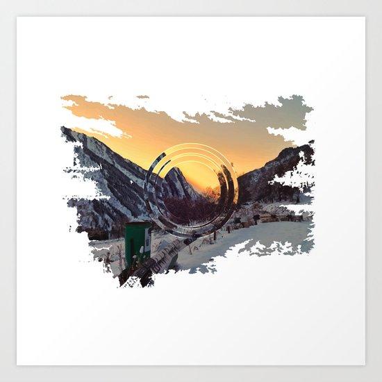 Mountains sunset Art Print