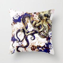 Octopus Skull Throw Pillow