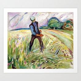The Haymaker by Edvard Munch Art Print