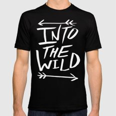 Into the Wild II Mens Fitted Tee LARGE Black