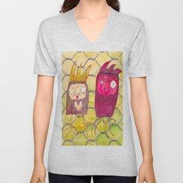 Ruby Owl and Chicken Jo Unisex V-Neck