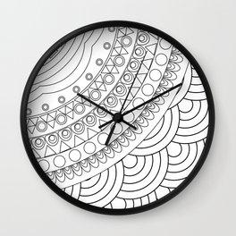 Ornate mandala Wall Clock