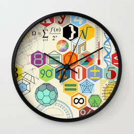 Math in color Wall Clock