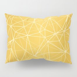 Mosaic Triangles Repeat Seamless Pattern gold Pillow Sham