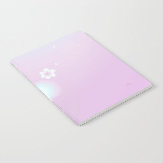 Petites Fleurs Roses Fractal Notebook