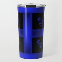 Blue Skulle Pattern Travel Mug