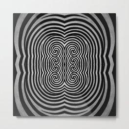 Cronky Acid Black and White Metal Print