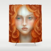 rebel Shower Curtains featuring Rebel by Alexia Rose
