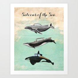 Saloons of the Sea Art Print