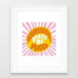 Sunshine Vibes Framed Art Print