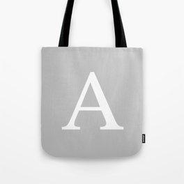 Silver Gray Basic Monogram A Tote Bag