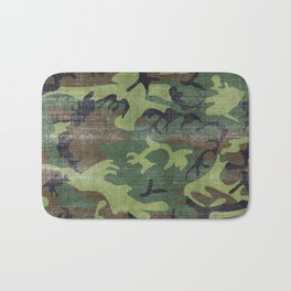 Aged Camo Look Bath Mat