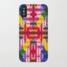 Rainbow Argyle Slim Case iPhone X
