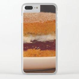 Victoria Sponge. Clear iPhone Case