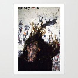 Citizen Falling. Art Print