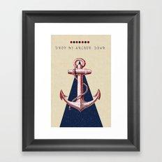 Anchor Down Framed Art Print