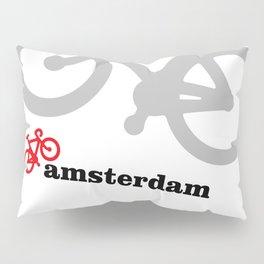 I Love Amsterdam - Red Bike Pillow Sham