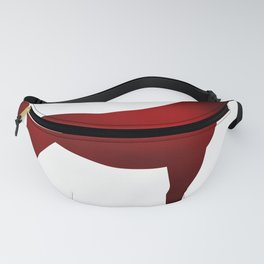 Horse - Two - Dark Red Fanny Pack