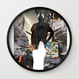 HuWayGo - collab collage Wall Clock