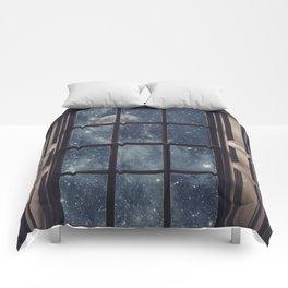 Space view Window-Moon shine Comforters