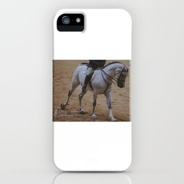Cantering Grey Horse iPhone Case