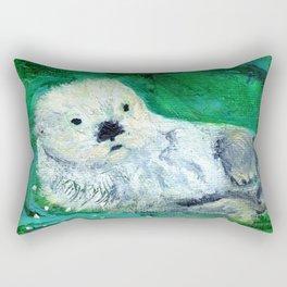 Otter Delights Rectangular Pillow