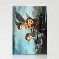 supernatural Stationery Cards featuring Supernatural by RAVEFIRELL