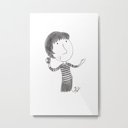 Doctor Who - An Unearthly Hipster (Susan Foreman) Metal Print