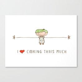 I love cooking boy Canvas Print