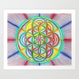 Clues in the Colors - The Rainbow Tribe Collection Art Print