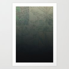Midnight Map Art Print