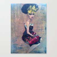 afro Canvas Prints featuring afro by ckcelebre