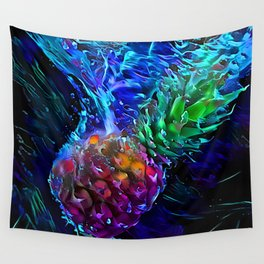 Pineapple: Splash Into Blacklight Wall Tapestry