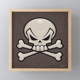 Skull and Crossbones Framed Mini Art Print