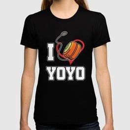Professional Toy Stringed Game Pastime Hobby I Heart Yoyo Gift T-shirt