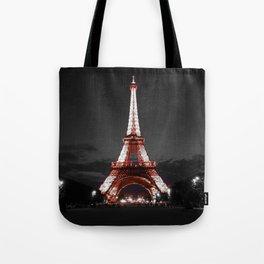 Paris Eiffel Tower Pink Night Tote Bag
